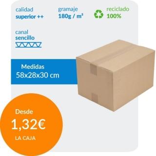 Cajas de Cartón de 58x28x30...