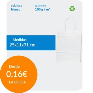 Bolsa de Asa Rizada Blanco...
