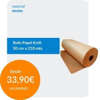 Rollo papel Kraft 60cm x...