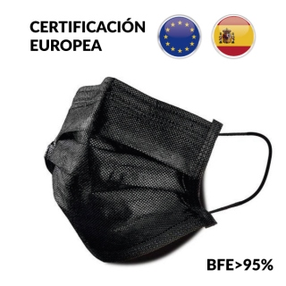 Mascarilla 3 Capas Negra