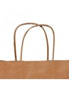 Personalizadas - Bolsas de Papel de Asa Rizada Kraft, blanca y colores